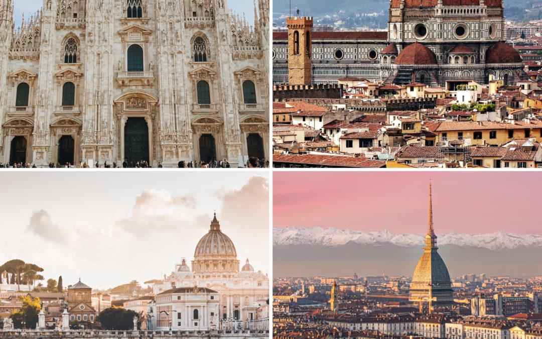 Le quattro città italiane, che hanno reso l'Italia grande nel mondo